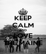 KEEP CALM AND LOVE THE MAINE - Personalised Poster A4 size