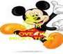 KEEP CALM AND LOVE THE MICKY TEAM - Personalised Poster A4 size