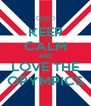 KEEP CALM AND LOVE THE OPYMPICS - Personalised Poster A4 size
