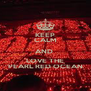 KEEP CALM AND  LOVE THE PEARL RED OCEAN - Personalised Poster A4 size