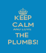 KEEP CALM AND LOVE  THE  PLUMBS! - Personalised Poster A4 size