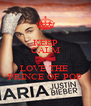 KEEP CALM AND LOVE THE  PRINCE OF POP - Personalised Poster A4 size