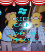 KEEP CALM AND LOVE THE SIMPSONS - Personalised Poster A4 size