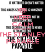 KEEP CALM AND LOVE THE STANLEY PARABLE - Personalised Poster A4 size