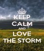 KEEP CALM AND LOVE THE STORM - Personalised Poster A4 size