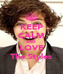 KEEP CALM AND LOVE The Styles - Personalised Poster A4 size