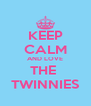KEEP CALM AND LOVE THE  TWINNIES - Personalised Poster A4 size