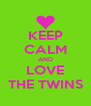 KEEP CALM AND LOVE THE TWINS - Personalised Poster A4 size