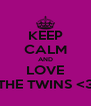KEEP CALM AND LOVE THE TWINS <3 - Personalised Poster A4 size