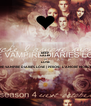 KEEP CALM AND LOVE THE VAMPIRE DIARIES LOVE   PERCHE' L'AMORE MORDE - Personalised Poster A4 size