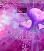 KEEP CALM AND LOVE THE VIOLET - Personalised Poster A4 size