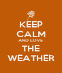 KEEP CALM AND LOVE THE WEATHER - Personalised Poster A4 size