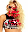 KEEP CALM AND LOVE THEOYBI - Personalised Poster A4 size
