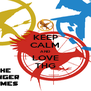 KEEP CALM AND LOVE THG - Personalised Poster A4 size
