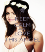 KEEP CALM AND  LOVE THIS ANGEL - Personalised Poster A4 size