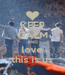 KEEP CALM AND love this is us - Personalised Poster A4 size