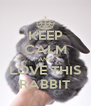 KEEP CALM AND LOVE THIS RABBIT - Personalised Poster A4 size