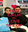KEEP CALM AND LOVE THY GF - Personalised Poster A4 size