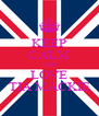 KEEP CALM AND LOVE TIA MACKIE - Personalised Poster A4 size