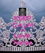KEEP CALM AND Love Tiaras - Personalised Poster A4 size