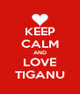 KEEP CALM AND LOVE TIGANU - Personalised Poster A4 size