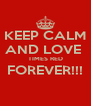 KEEP CALM AND LOVE  TIMES RED FOREVER!!!  - Personalised Poster A4 size