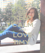 KEEP CALM AND LOVE TIMY  - Personalised Poster A4 size