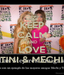 KEEP CALM AND LOVE TINI & MECHI - Personalised Poster A4 size