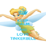 KEEP CALM AND LOVE TINKERBELL - Personalised Poster A4 size