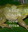 KEEP CALM AND love  tirisa - Personalised Poster A4 size