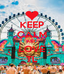 KEEP CALM AND LOVE TL - Personalised Poster A4 size