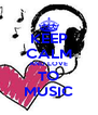 KEEP CALM AND LOVE TO MUSIC - Personalised Poster A4 size
