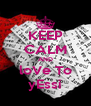 KEEP CALM AND loVe To yEssi - Personalised Poster A4 size