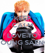 KEEP CALM AND LOVE TO YOUNG SAENG - Personalised Poster A4 size