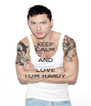 KEEP CALM AND LOVE TOM HARDY - Personalised Poster A4 size