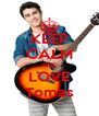 KEEP CALM AND LOVE Tomas - Personalised Poster A4 size