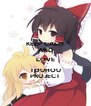 KEEP CALM AND LOVE TOUHOU PROJECT - Personalised Poster A4 size