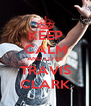 KEEP CALM AND LOVE TRAVIS CLARK - Personalised Poster A4 size