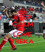 KEEP CALM AND LOVE TREKA - Personalised Poster A4 size