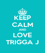 KEEP CALM AND LOVE TRIGGA J - Personalised Poster A4 size