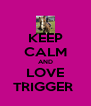 KEEP CALM AND LOVE TRIGGER  - Personalised Poster A4 size