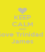 KEEP CALM AND love Trinidad  James - Personalised Poster A4 size