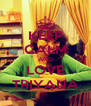 KEEP CALM AND LOVE TRIYANA - Personalised Poster A4 size