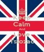Keep Calm And Love Tslozac - Personalised Poster A4 size