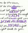 KEEP CALM AND LOVE TUMBLR MORE - Personalised Poster A4 size