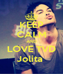 KEEP CALM AND LOVE TVD Jolita  - Personalised Poster A4 size