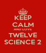 KEEP CALM AND LOVE TWELVE SCIENCE 2 - Personalised Poster A4 size