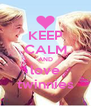 KEEP CALM AND love twinnies - Personalised Poster A4 size
