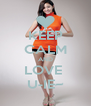 KEEP CALM AND LOVE  U-IE~ - Personalised Poster A4 size