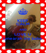 KEEP CALM AND LOVE U lynearah my babe - Personalised Poster A4 size
